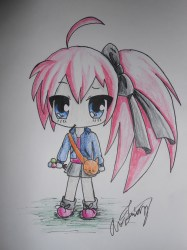 chibi eating lollipops called imagination expedition drew idea then why