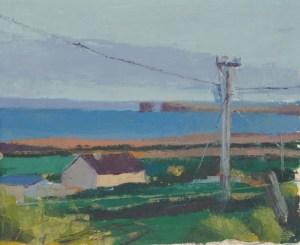 Ballycastle Ireland, oil on paper, 2010