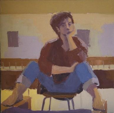 self-portrait, oil on canvas, 2009