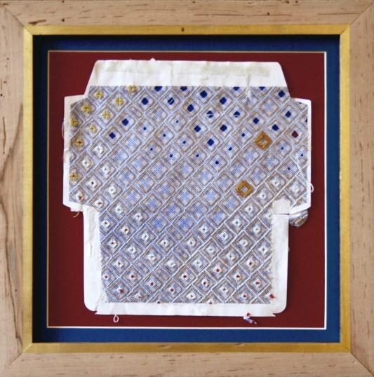 Marsie in the White House, 2015, silk and cotton thread on envelope, © Amanda Wagstaff