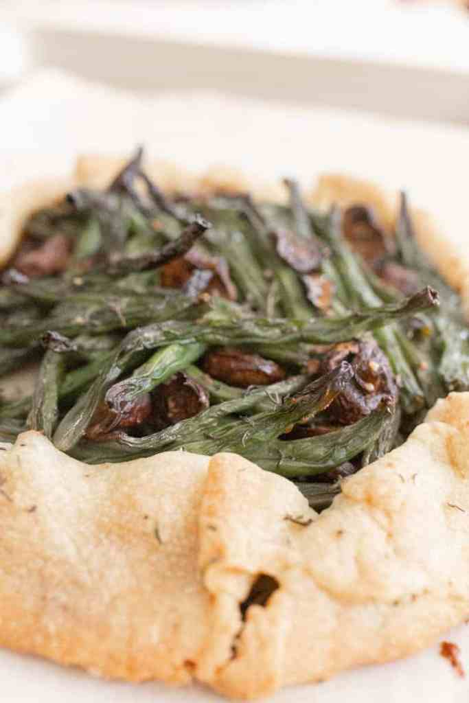 green bean galette side view