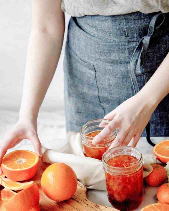 Double Orange Marmalade being canned