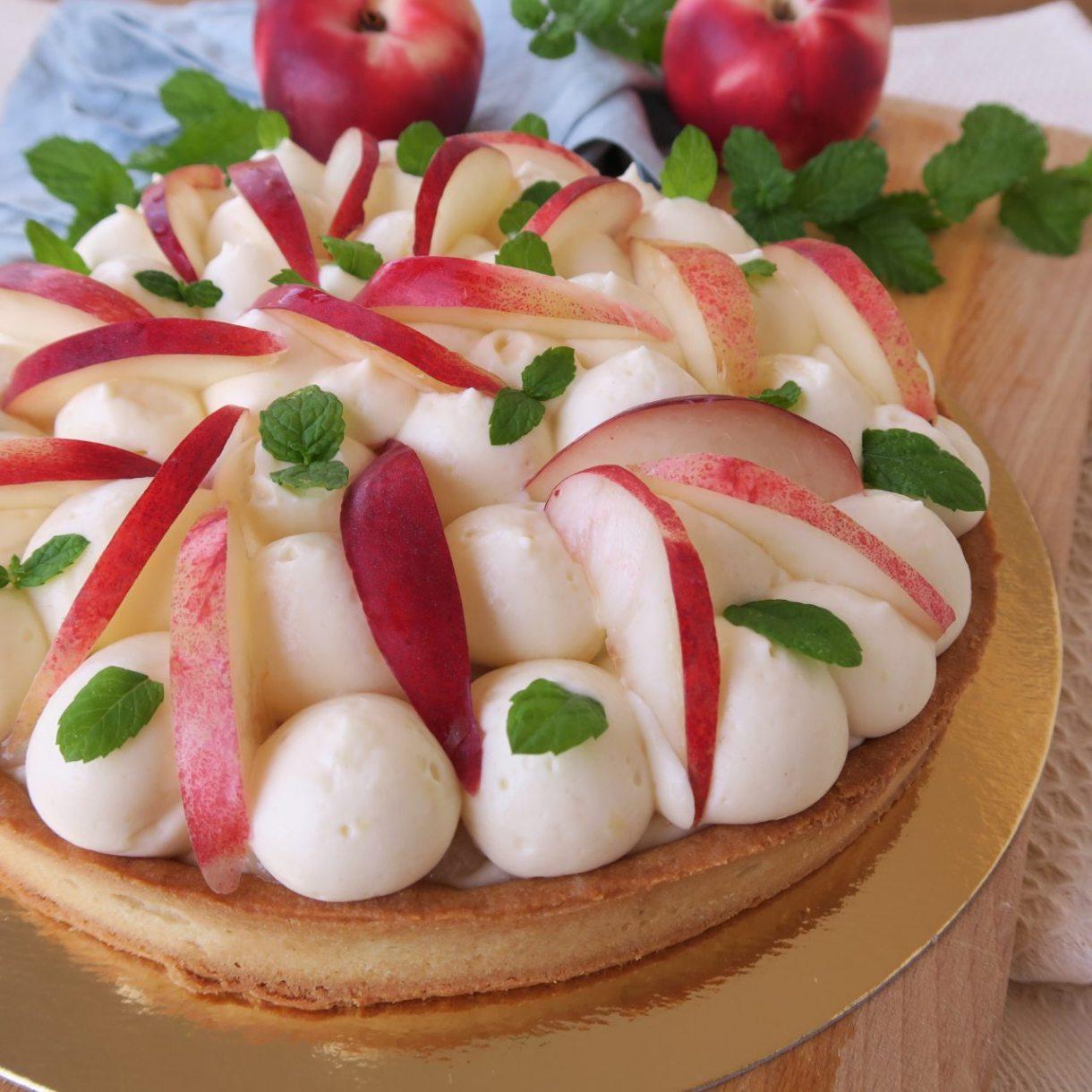 tarte nectarines menthe