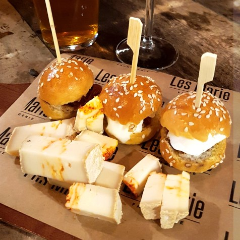 mini burgers fromage les marie montpellier
