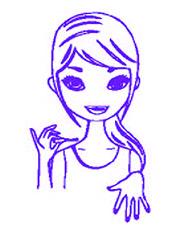 femme en pleine manucure des mains