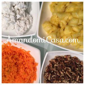 ensalada de piña y zanahoria