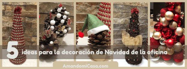 ideas para la decoración de Navidad de la oficina
