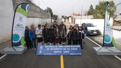Photo of Entregan mejoramiento de calle Nuevo León en La Estancia