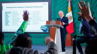 Photo of AMLO agradece a gobernadores sumarse al Acuerdo Nacional por la Democracia