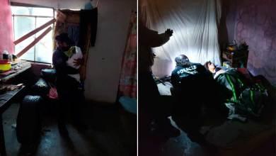 Photo of Policías asisten a mujer quien dio a luz en su domicilio