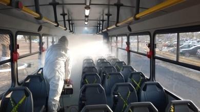 Photo of Desinfectan unidades de Qrobús para trasladar adultos mayores