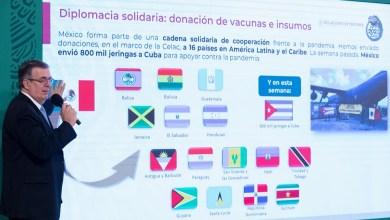 Photo of Envió México a Cuba 400 mil jeringas para apoyar vacunación: Ebrard