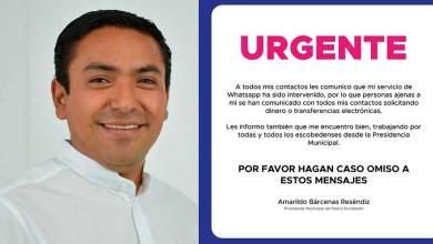 Photo of Hackean cuenta de whatsapp de Amarildo Bárcenas, alcalde de Pedro Escobedo