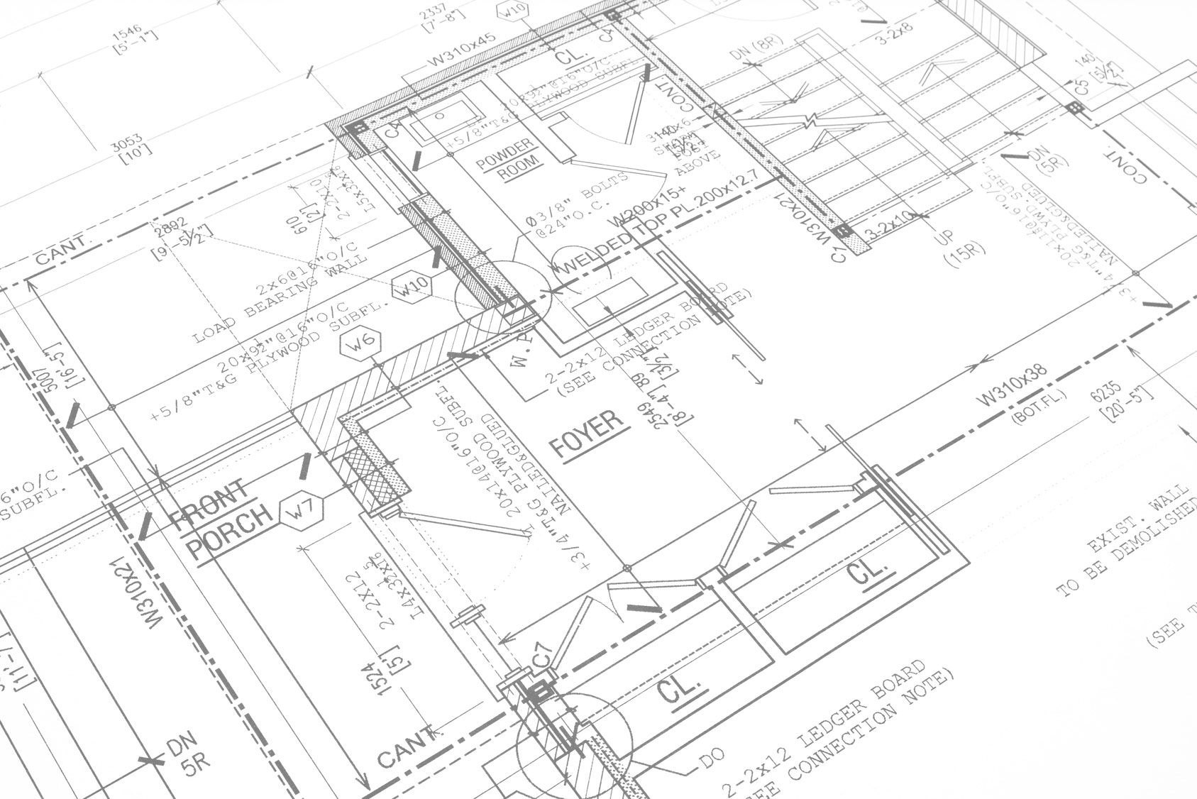 Fire Hydrant System Layout Drawing