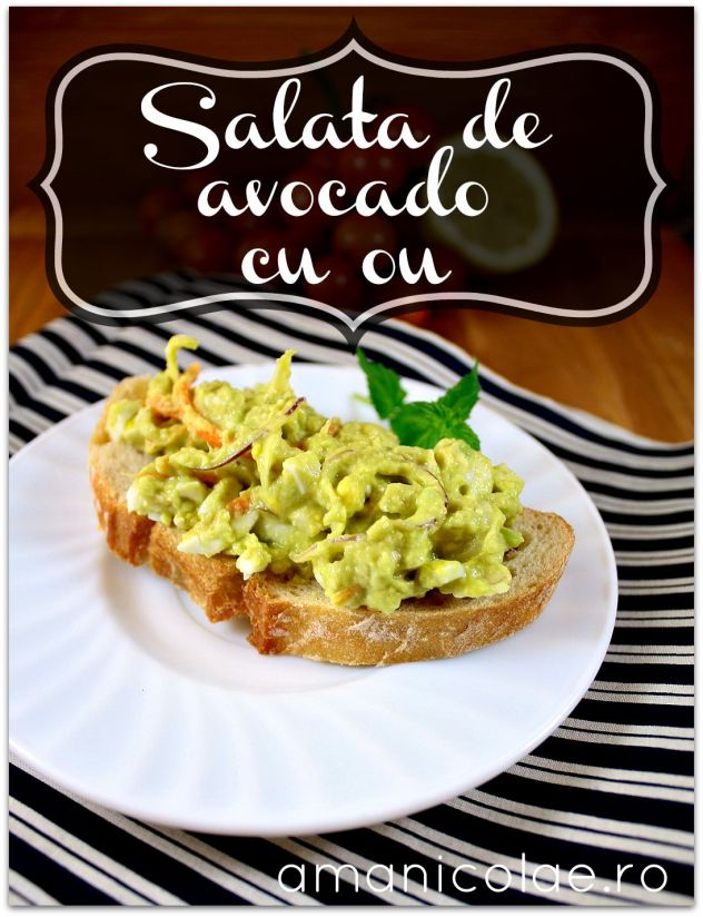 salata de avocado cu ou