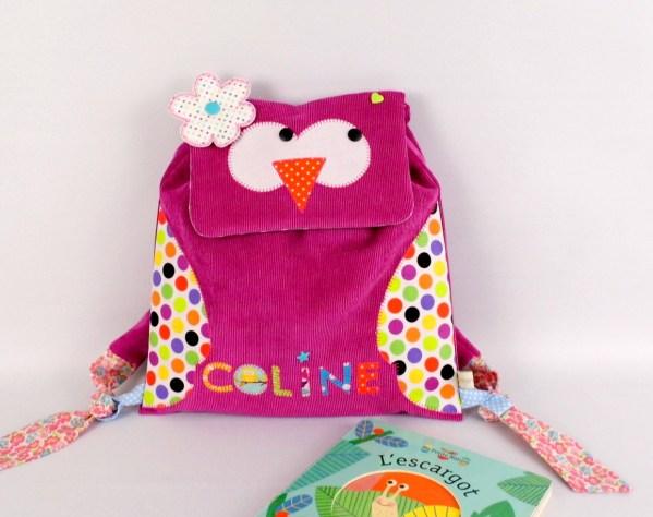 sac-a-dos-chouette-personnalise-prenom-coline-sac-fille-hibou-ecole-maternelle-rose-arc-en-ciel-preschool-baby-bag-personalized-name-owl