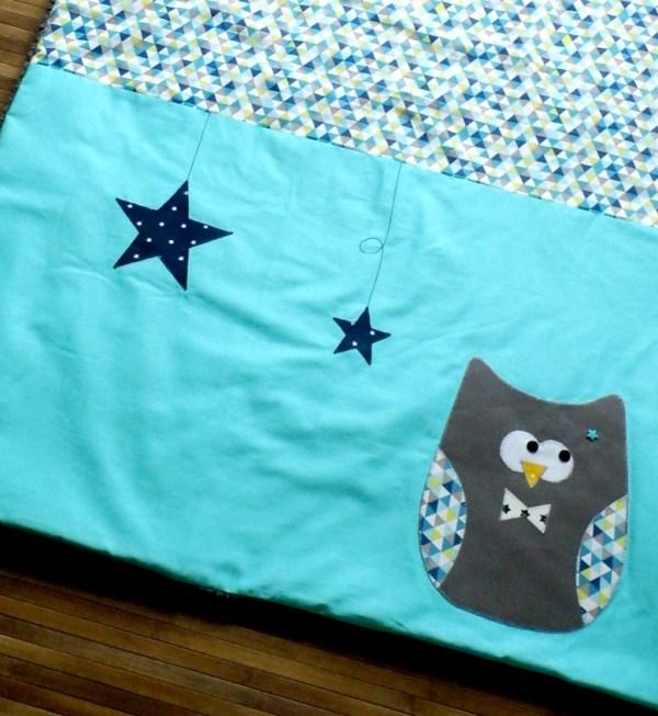 couverture-bebe-chouette-hibou-personnalisable-prenom-deco-chambre-bleu-turquoise-gris-cadeau-naissance-personnalise-unique