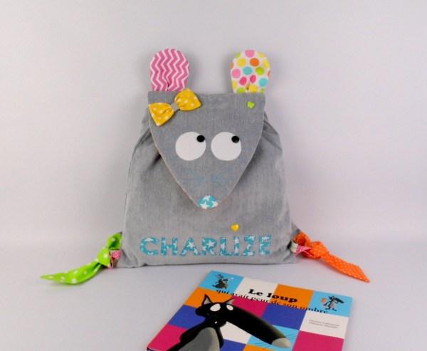 sac-maternelle-souris-personnalise-prenom-charlize-gris-bleu-turquoise-vert-anis-rose-sac-bebe-brode-prenom-cadeau-anniversaire-fille--an-preschool-backpack-mouse