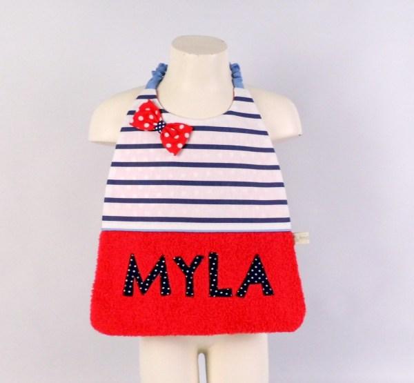 bavoir-cantine-brode-prenom-myla-rouge-bleu-marine-pois-bavoir-elastique-jeune-enfant-ecole-maternelle-creche-cadeau-enfant-personnalise