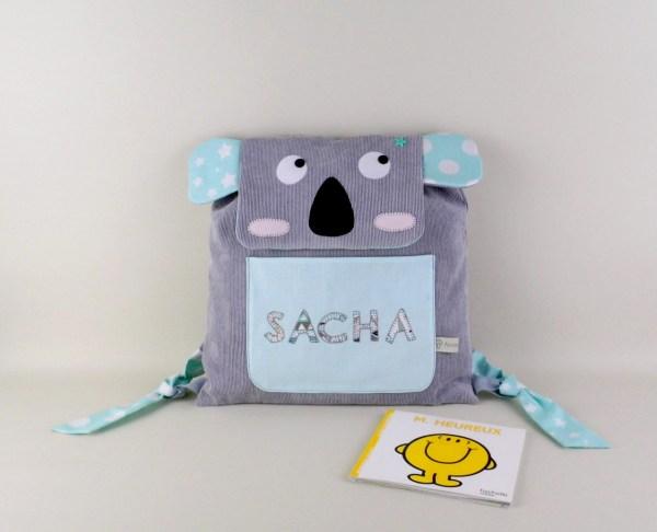 sac-maternelle-personnalise-sacha-gris-vert-menthe-sac-bebe-cadeau-naissance-personnalisable