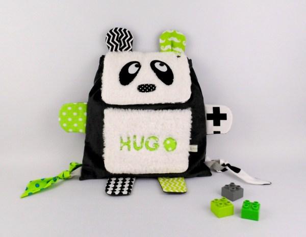 sac-a-dos-panda-personnalise-prenom-hugo-ecole-maternelle-creche-sac-a-langer-bebe-personalized-kindergarten-backpack-panda