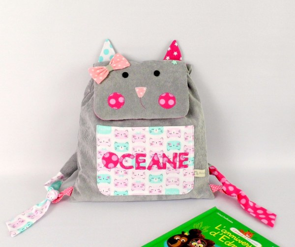 sac-maternelle-chat-personnalise-prenom-oceane-cat-backpack-toddler-preschool