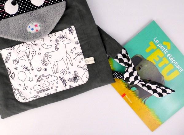 sac-maternelle-personnalisable-prenom-raton-laveur-tissu-a-colorier-sac-gouter-fille-licorne-rose-jaune-moutarde-gris-toddler-backpack-raccoon-unicorn