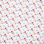 Blanc étoiles multicolores
