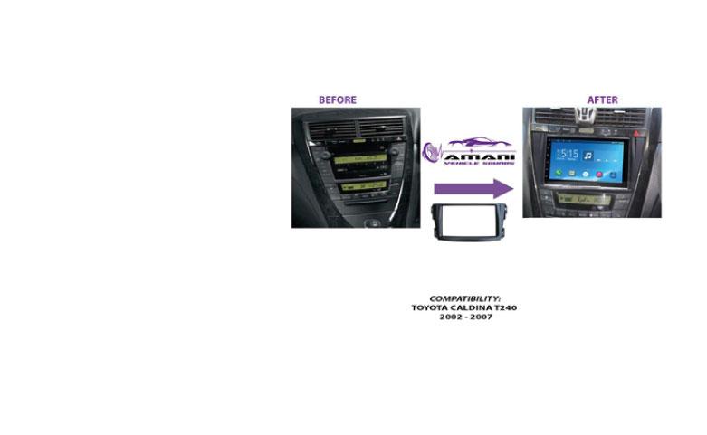 Double Din Stereo Fascia Panel for Toyota Caldina T240