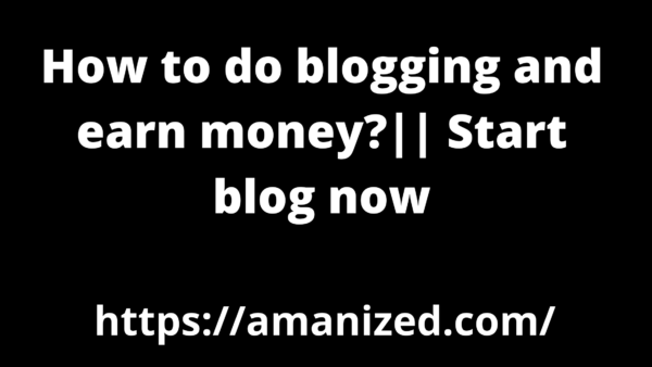 Start blog now