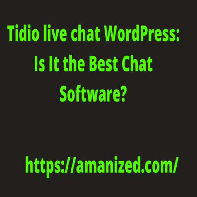 Tidio live chat WordPress