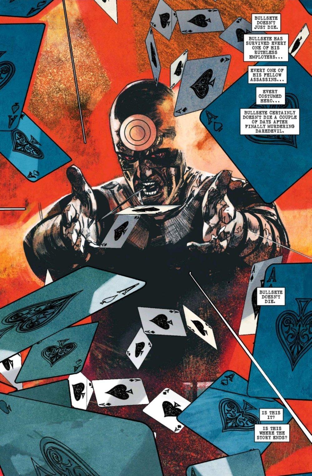 Bullseye throwing cards