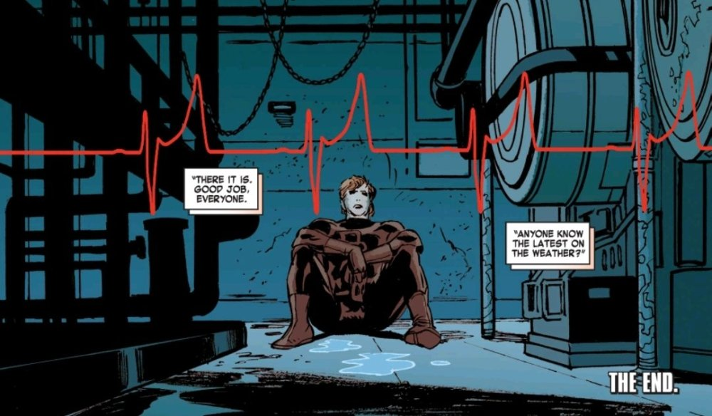 Daredevil waiting for a heartbeat of a sick kid