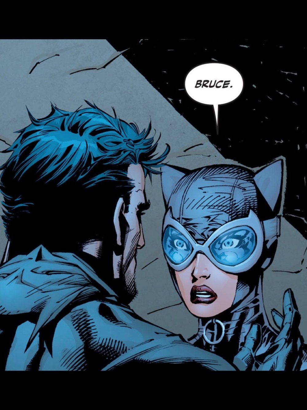 Batman revealing his identity to Catwoman