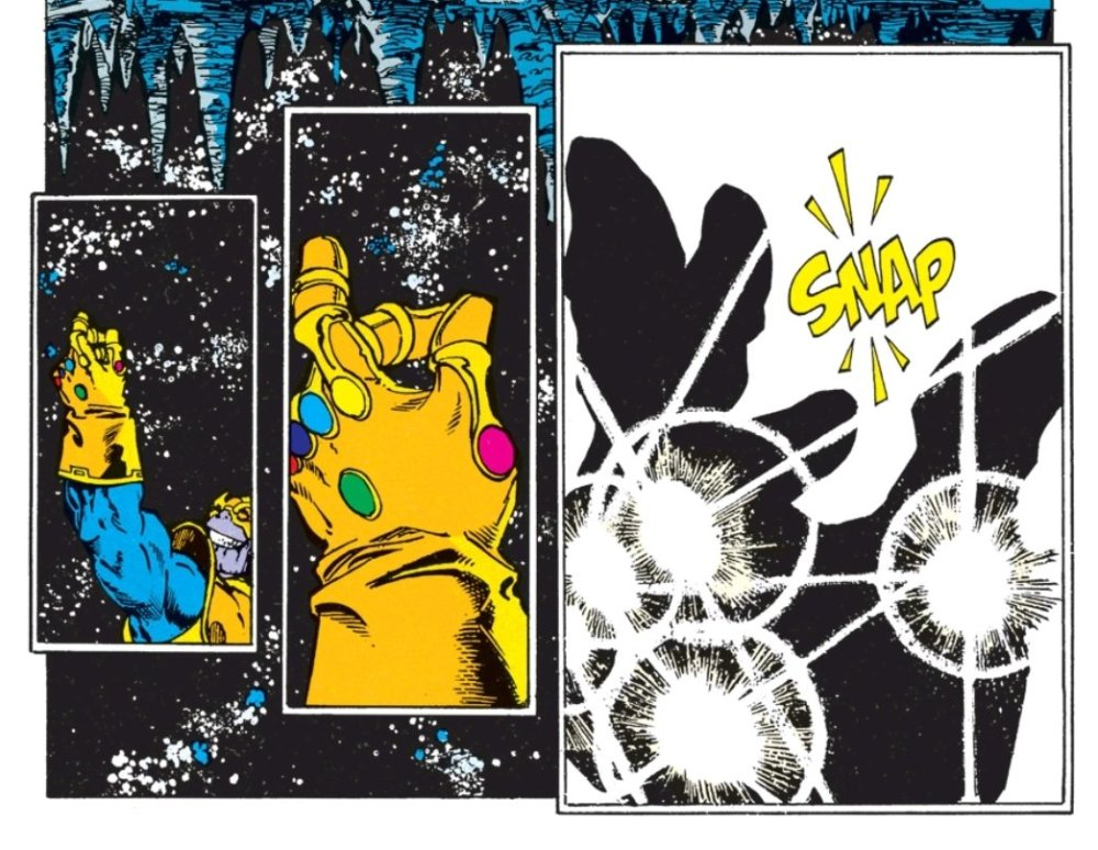 Thanos snapping his fingers