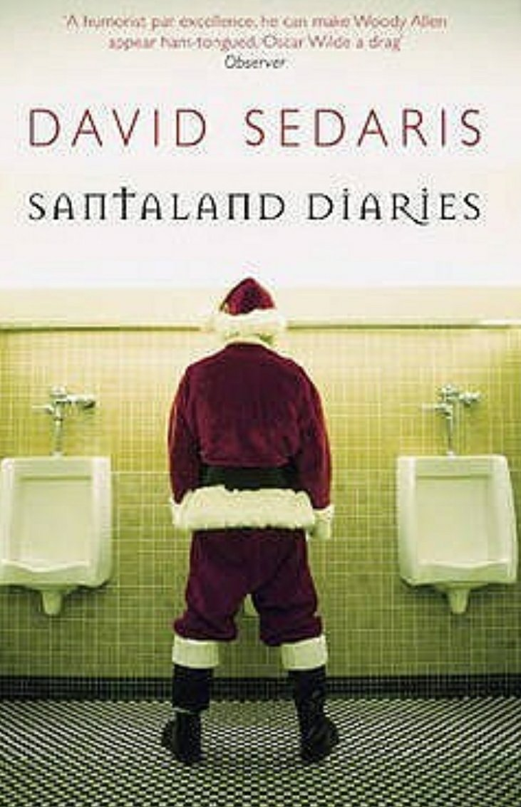 Santa at a urinal, book cover design