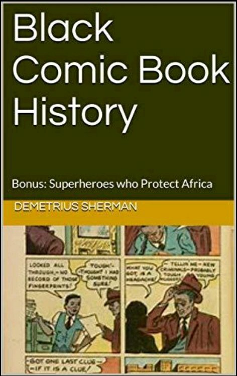 black comic book history book cover