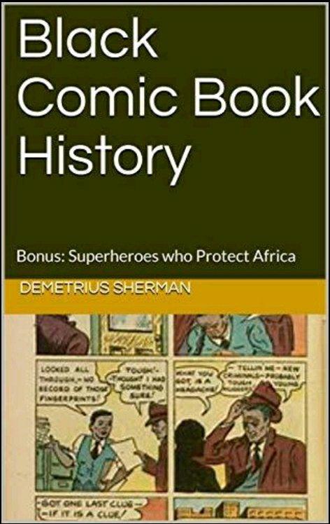 black comic book history book cover