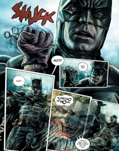 page from Batman: Damned with batman and the joker