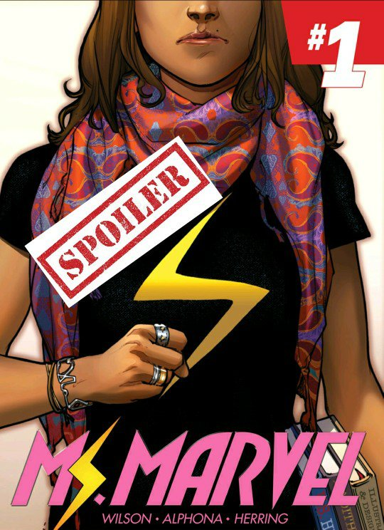 book cover ms marvel with spoiler tag