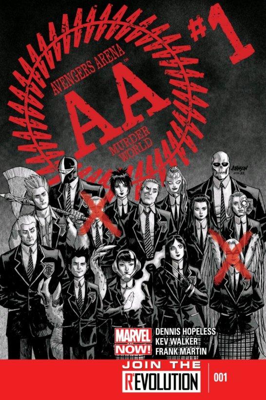 avengers arena marvel comics cover