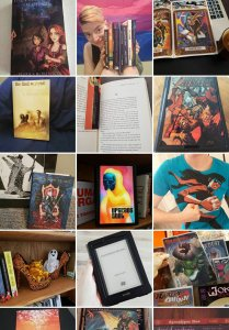 screen shot of instagram page amanjareads
