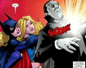 batgirl and supergirl fighting dracula