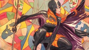 batgirl and stained glass
