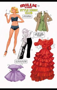 millie the model fashion cut outs
