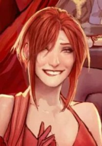 lisa in sunstone biting her lip