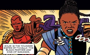 shuri, younger sister of t'challa