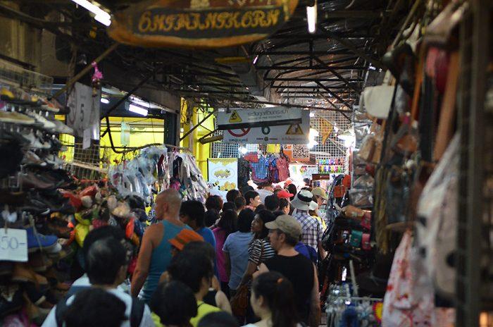 Le marché de Chatuchak à Bangkok