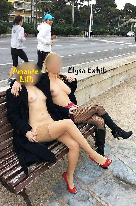 Amante Lilli s'exhibe avec ElysaExhib sur la Côte d'Azur