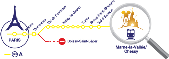 train disneyland paris